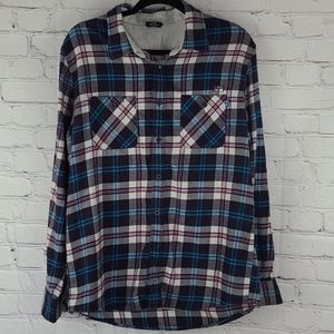 Oakley Plaid Long Sleeve Button Down Shirt Size L